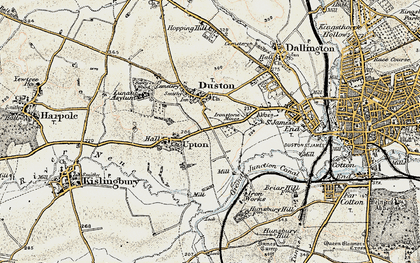 Old map of Duston in 1898-1901