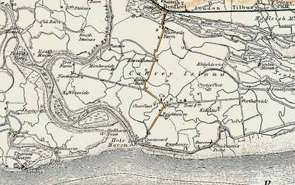 Old map of Coryton in 1897-1898
