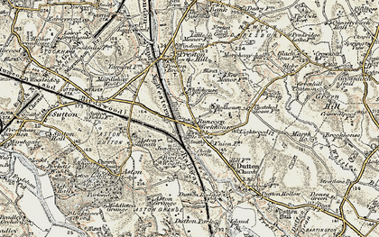 Old map of Dutton in 1902-1903