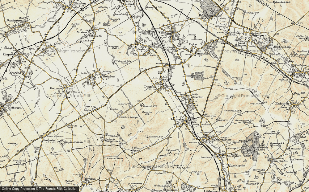 Old Map of Duxford, 1898-1901 in 1898-1901