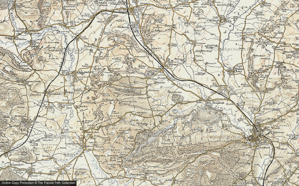 Old Map of Historic Map covering Wetmore in 1901-1903