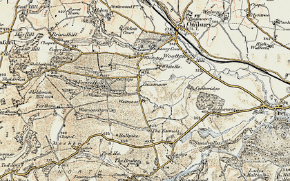 Old map of Wetmore Barn in 1901-1903