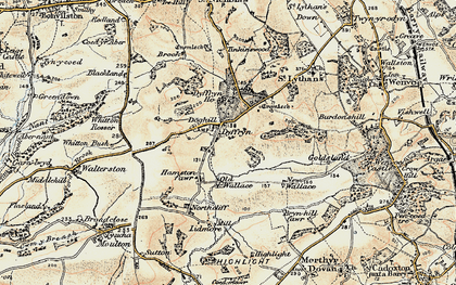 Old map of Whitton Mawr in 1899-1900