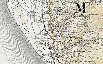 Old map of Dyffryn Ardudwy in 1902-1903