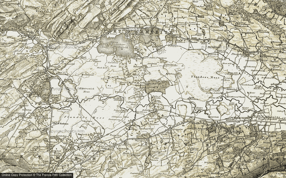 Old Map of Historic Map covering Backside of Garden in 1904-1907