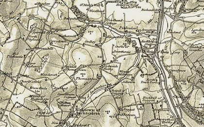 Old map of Acrestrype in 1909-1910