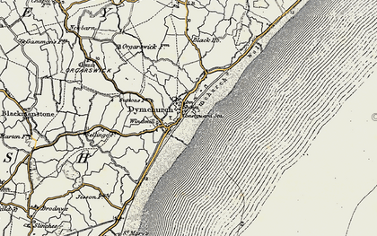 Old map of Dymchurch in 1898