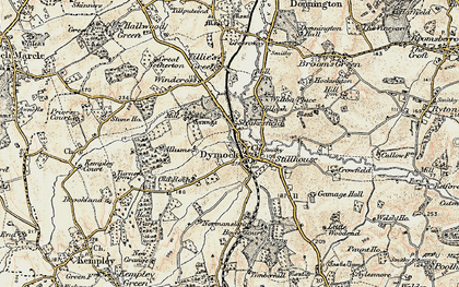 Old map of Dymock in 1899-1900