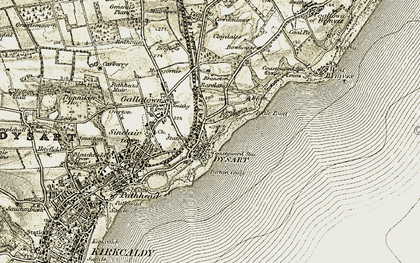 Old map of Dysart in 1903-1906