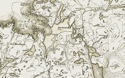 Old map of Abhainn Dhubh Bheag in 1911