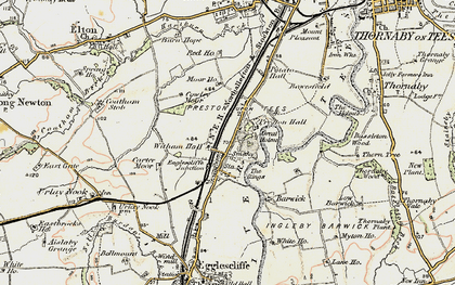 Old map of Eaglescliffe in 1903-1904