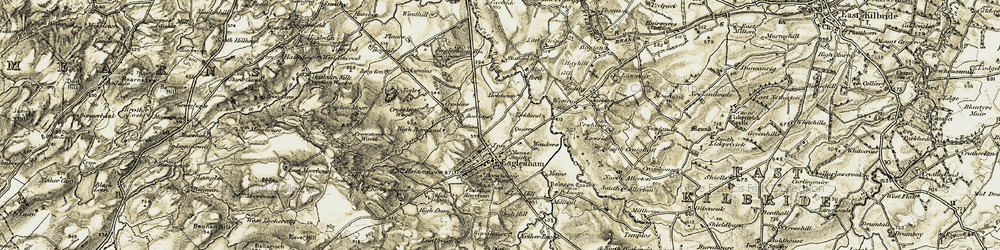 Old map of West Revoch in 1904-1905