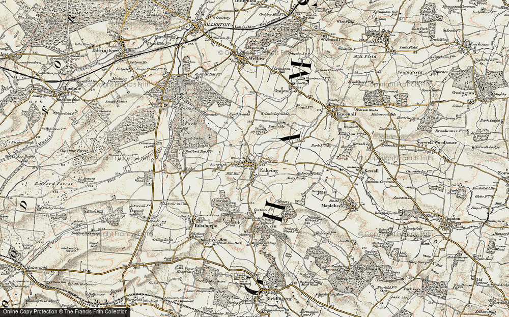 Old Map of Historic Map covering Leyfields in 1902-1903
