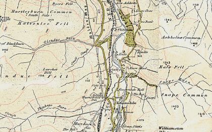 Old map of Ashholme Common in 1901-1904