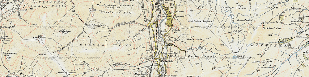 Old map of Whitwham in 1901-1904