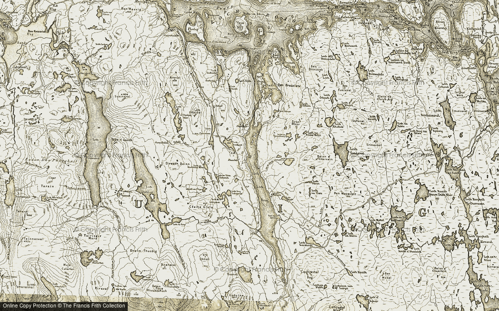Old Map of Historic Map covering Allt na Criche in 1911