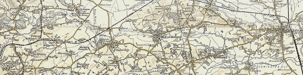 Old map of Eardisland in 1900-1903