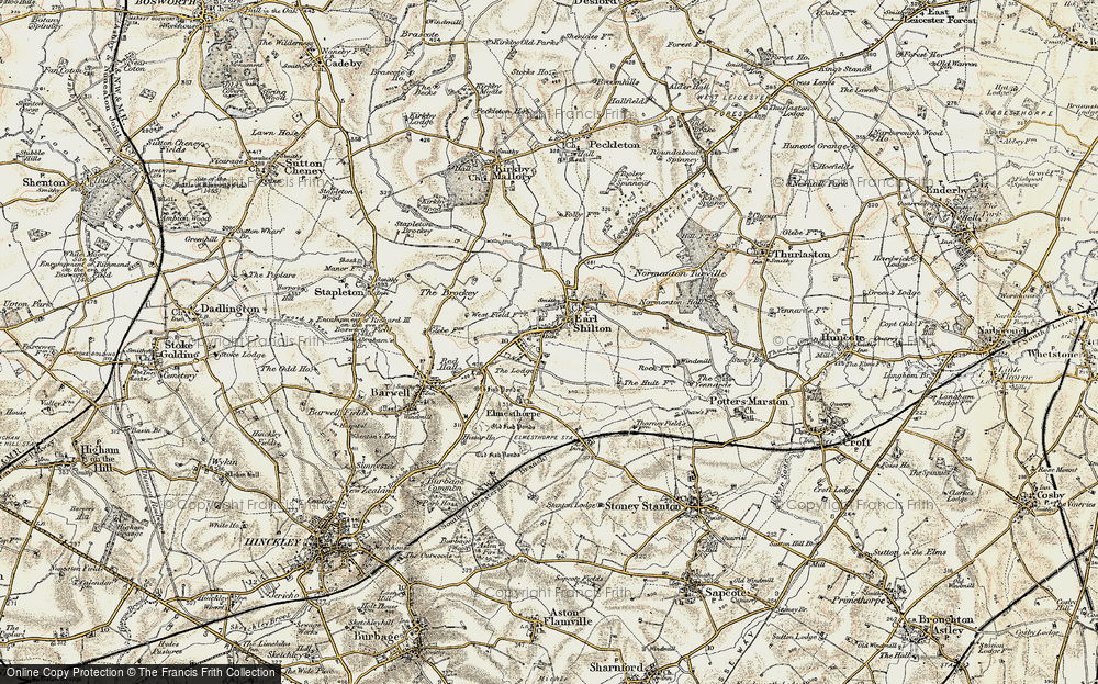Old Map of Earl Shilton, 1901-1903 in 1901-1903