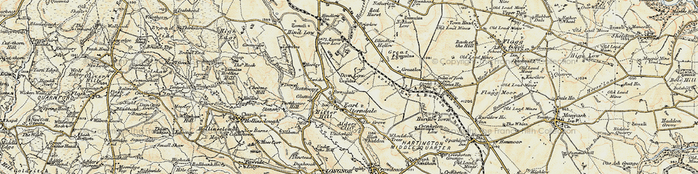 Old map of Earl Sterndale in 1902-1903