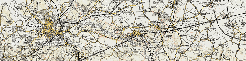 Old map of Earlestown in 1903