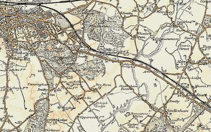 Old map of Earley in 1897-1909