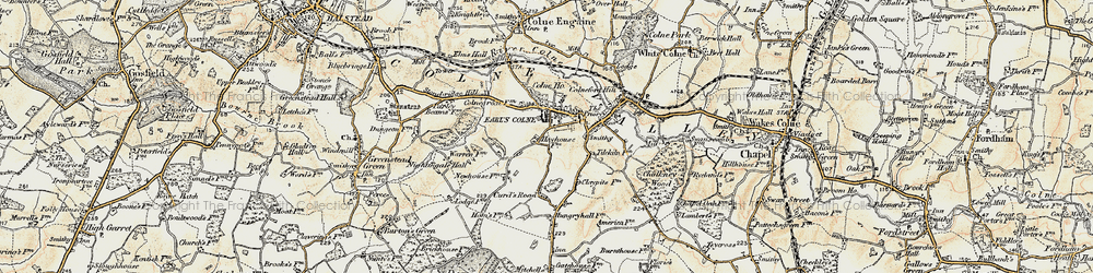 Old map of Earls Colne in 1898-1899