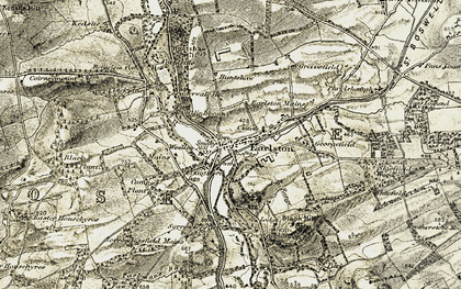 Old map of Whitefield in 1901-1904