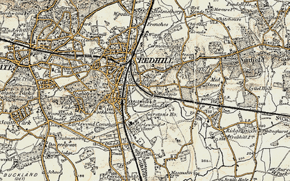 Old map of Earlswood in 1898-1909