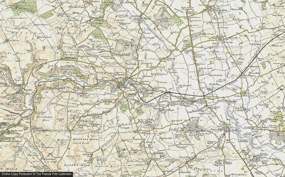 Old Map of Easby, 1903-1904 in 1903-1904