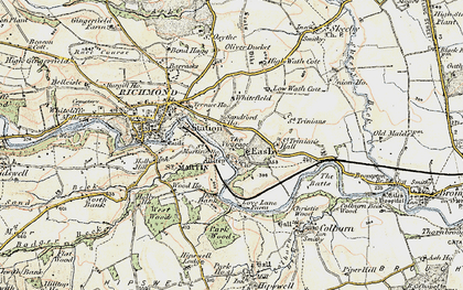 Old map of Easby in 1903-1904