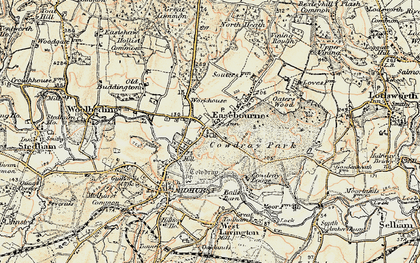 Old map of Easebourne in 1897-1900