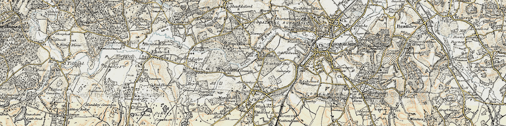 Old map of Eashing in 1897-1909