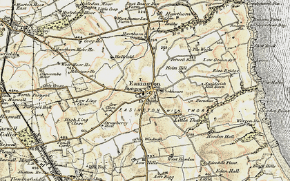 Old map of Easington in 1901-1904
