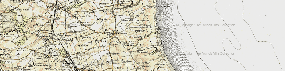 Old map of Easington Colliery in 1901-1904