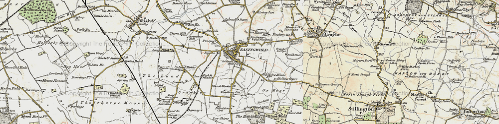 Old map of Easingwold in 1903-1904