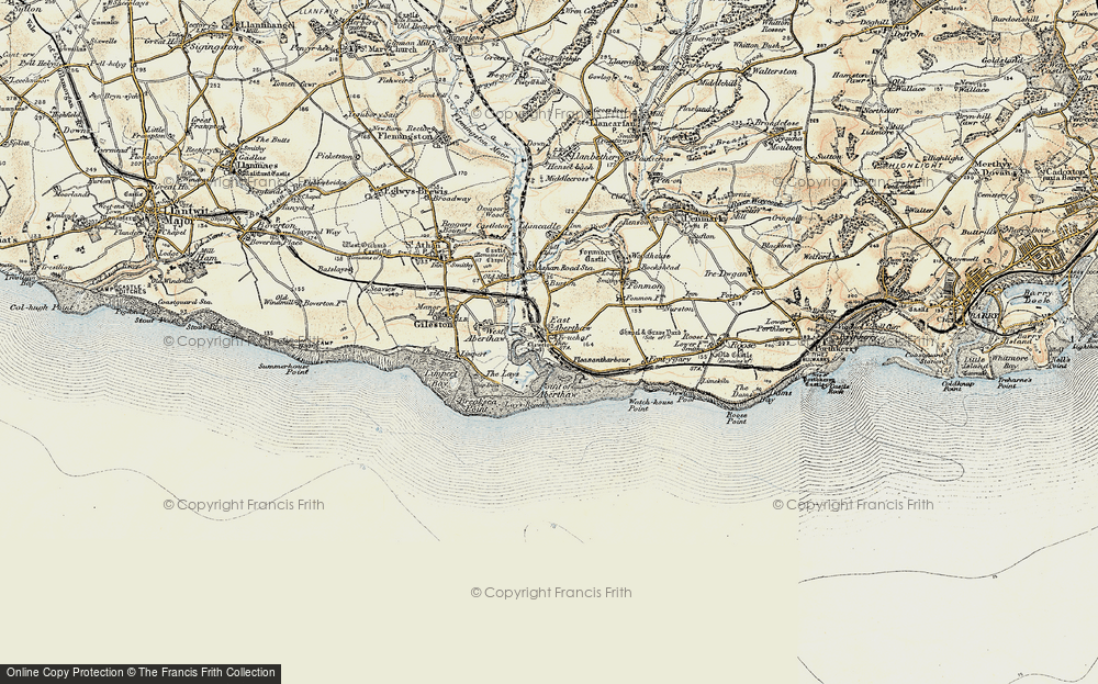 Old Map of East Aberthaw, 1899-1900 in 1899-1900