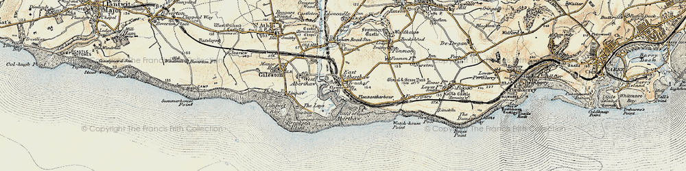 Old map of East Aberthaw in 1899-1900