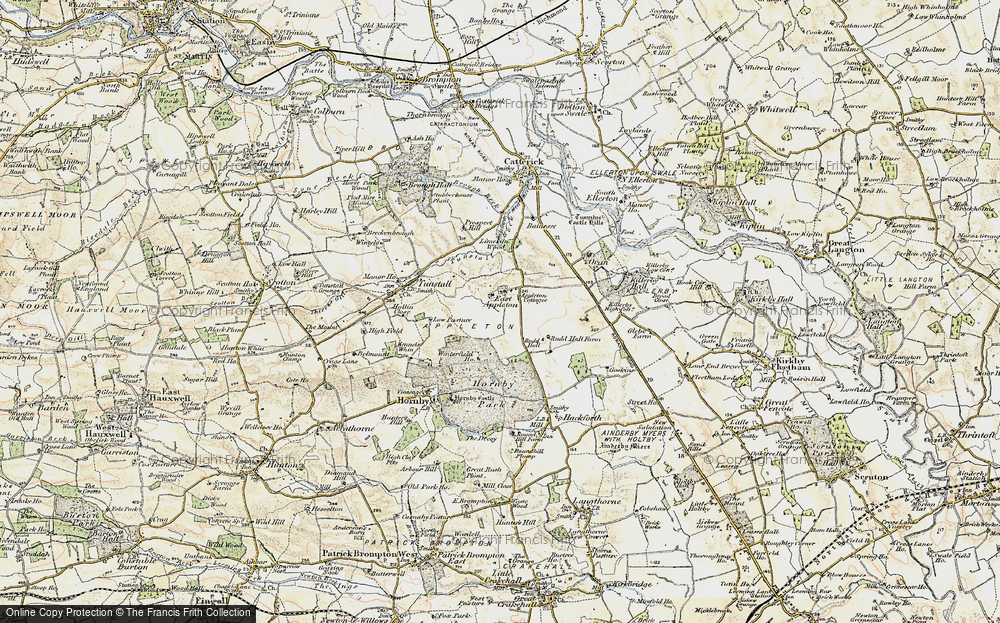 Old Map of Historic Map covering Linekiln Wood in 1903-1904