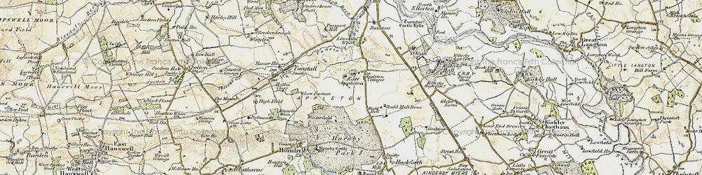 Old map of Winterfield Ho in 1903-1904