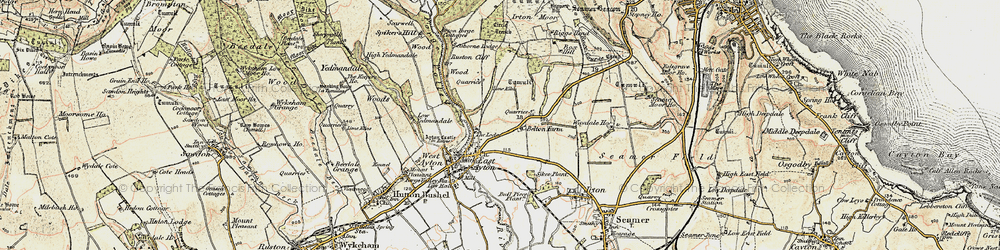 Old map of East Ayton in 1903-1904