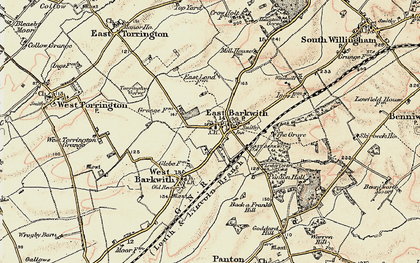 Old map of Back o' Frank's Hill in 1902-1903