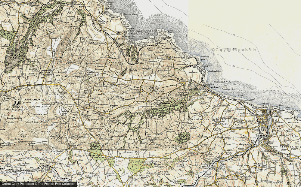 Old Map of Historic Map covering Allerton Head in 1903-1904