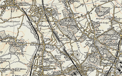 Old map of East Barnet in 1897-1898