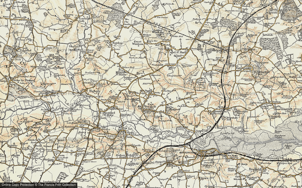 Old Map of Historic Map covering Ackworth Ho in 1898-1901