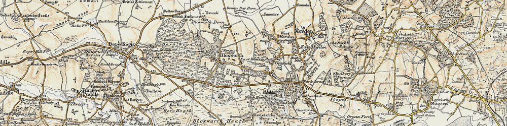 Old map of Woolsbarrow (Fort) in 1897-1909