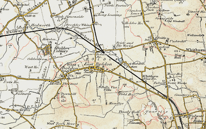 Old map of East Boldon in 1901-1904