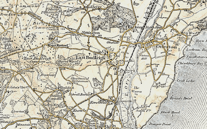 Old map of East Budleigh in 1899