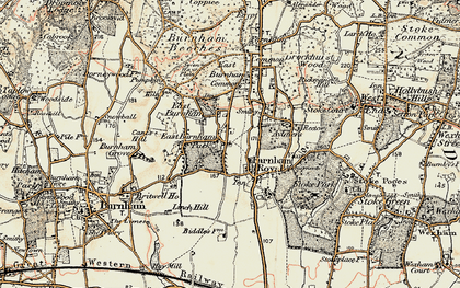 Old map of East Burnham in 1897-1909