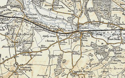 Old map of East Burton in 1899-1909