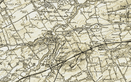 Old map of Lawheads in 1904
